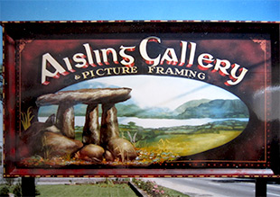 Aisling Gallery traditional sign