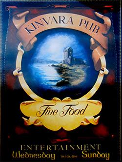 Kinvara Pub traditional signage