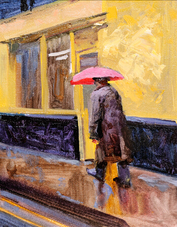 Vincent Crotty Pink Umbrella