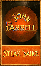 steak sauce sign