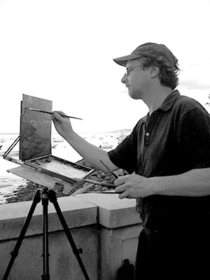 vincent crotty painting outside