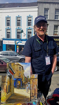 Vincent Crotty with his award-winning painting